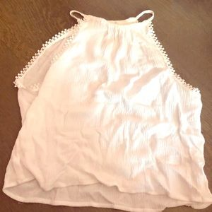 White H and M crop top